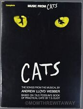 1981 Music From Cats Complete Songs Andrew Lloyd Webber T. S. Eliot