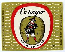 Esslinger's Inc ESSLINGER PREMIUM BEER label PA 12oz
