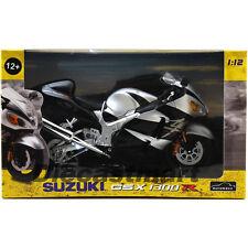 AUTOMAXX 600203 1:12 SUZUKI GSX1300R HAYABUSA DIECAST MOTORCYCLE SILVER BLACK