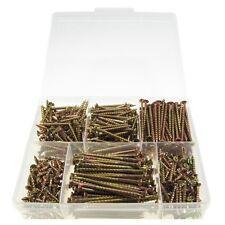 Qty 500 Chipboard Screw Kit 8g 10g Zinc Yellow ZY Countersunk Timber Wood #40
