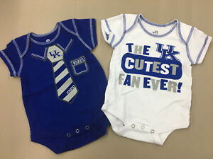 KENTUCKY WILDCATS Infant Sizes 2 Piece Creeper Set NCAA New