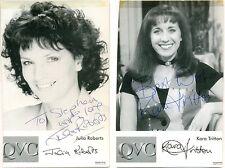 Julia Roberts + Kara Tritton signed photos autographs QVC presenters Dr Who