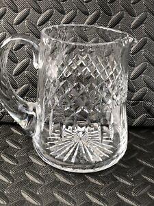 Lovely Lead Crystal Cut Glass Water Jug  Vintage
