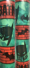 1 Large Roll Batman Christmas Gift Wrapping Paper 70 sq ft