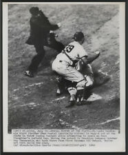 1949 Original BB Wire Photo - Musial Nipped At The Plate (Cards vs Dodgers)