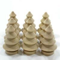 10Pcs Wooden Christmas Tree Xmas Decor Craft Decorations Hanging Ornaments T