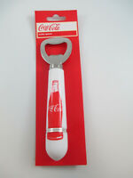 Coca-Cola Handheld Bottle Opener White Handle with Red Contour Bottle