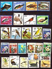 KAMPUCHEA/CAMBODGE Poissons de mer,oiseaux exotiques,fleurs d'ornement G240