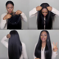 Full Lace Front Wig 100% Brazilian Virgin Human Hair Silky Straight Baby Hair