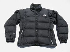 Womens The NORTH FACE Black 700 Down NUPSTE Puffer Zip Sweater Jacket Small