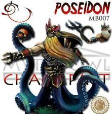 RN Estudio Myth Bowl Chaos Pact Team 32mm Poseidon With Ball Star Player Coach