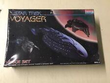 Vintage 1996 Star Trek Voyager 3-piece Model Ship Set Sealed