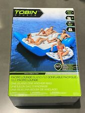 Tobin Sports Pacific Lounge Island Inflatable 4 Person Float New Sealed