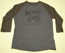 AC/DC Long Sleeve Concert Tour T-Shirt Gray Brown 81 82 North America