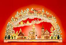 SIKORA LB79 XXL Arco de Luz de Navidad LED de Madera Pueblo Invernal Decoración