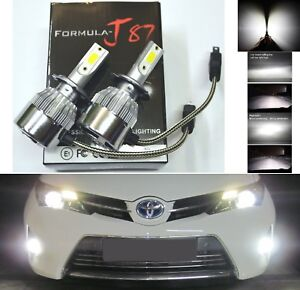 LED Kit C6 72W H7 5000K White Two Bulbs Fog Light Replacement Lamp Upgrade Stock