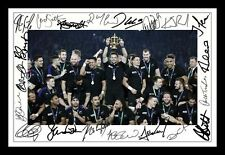 NEW ZEALAND ALL BLACKS 2015 RUGBY WORLD CUP SIGNED & FRAMED PP POSTER PHOTO 5