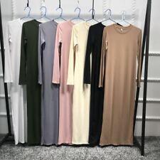 Dubai Abaya Muslim Women Long Sleeve Slim Dress Islamic Kaftan Jilbab Gown Lot