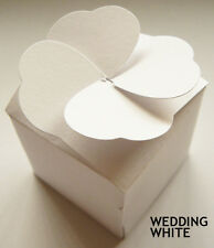 LARGE cup cake muffin boxes wedding favour heart lid (pack x 10)  boxes WHITE