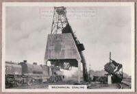 Garratt Locomotive Engine At Mechanical Coaling Depot 1930s Trade Ad Card