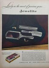 Vintage 1946 Jewelite Crystal Roll-Wave Brush Print Ad Ephemera Wall Art Decor