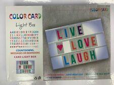 Hazlo tú mismo caja colorida cinematográfica Luz Carta Tarjeta Led Caja de luz tablón de mensajes USB