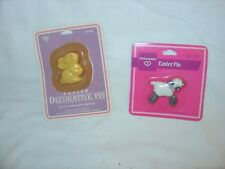 Ambassador 2 Easter lapel/broch pins, Lamb and a Bunny Rabbit.
