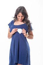 My Bella Mama Short Sleeve Nursing Nightgown Breastfeeding Factory Seconds