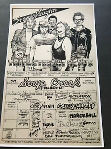 1978 STEVIE RAY VAUGHAN Triple Threat Revue show poster Soap Creek