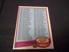 1980-81 OPC O-Pee-Chee #257 Checklist UNMARKED - nrmtmt+