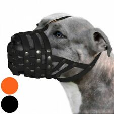 Waterproof Pitbull Dog Muzzle Secure Basket Adjustable Muzzles Large Dogs Soft L