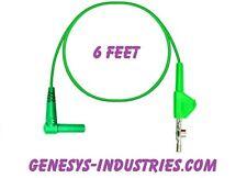 TEST LEADS FOR JDSU ACTERNA HST3000 GREEN HST-3001-GN-6 ALLIGATOR CLIP NEW
