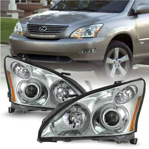 Chrome Projector Headlights For Lexus 04-09 RX330 RX350 HID/Xenon w/o AFS Model