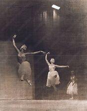 Hendrickson Original Signed Photo Sepia Ballerinas Doing Leaps Elegantly 11x14