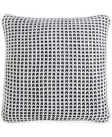 "New Charter Club Throw Deco Knit Throw Pillow 20"" Black & White Damask Designs"