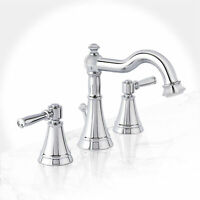 Miseno ML821 Santi-V Widespread Bathroom Faucet - - Chrome