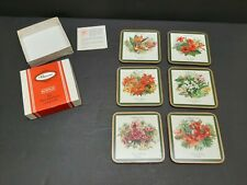 New listing Vtg Pimpernel Coasters Caribbean Flowers Hibiscus Bird Paradise Frangipani Set 6