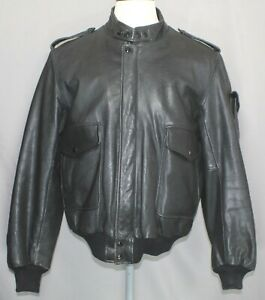 Hein Gericke Harley Davidson H-D Leather Motorcycle Jacket Men's Size 48 Reg