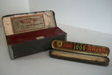 LOT DE DEUX BOITES ANCIENNES ZINC ET FER cigares rasoir