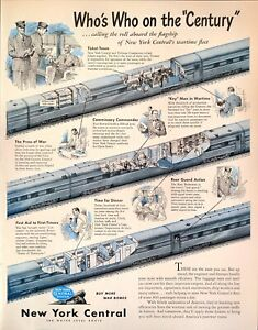 1945 Vintage Print Ad New York Central Railroad Water Level Route Wartime Fleet
