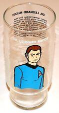 Star Trek TOS Dr. Leonard McCoy Dr Pepper Glass 1976 Paramount Pictures Vintage