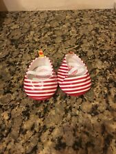 Build a Bear Red & White Striped Shoes - EUC