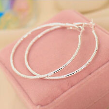 Fashion Circular Ring Earring Big Hoop Cutout Stud Gold Silver Earrings Set Gift