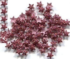 GLITTER STARS Rhinestuds iron-on hot-fix 5mm  RED  1 gross