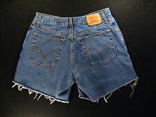 LEVIS Zipper 550 CUTOFF JEANS SHORTS Cut Off 31 Daisy Duke High Waisted