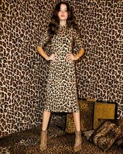 f55688636b58 2019 Alice Olivia Delora Fitted Mock Neck Leopard Dress $330 Sz 8 Medium