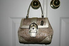 Coach GOLD Signature Lurex MINI Top Handle LIMITED EDITION Bag PURSE Clean EUC