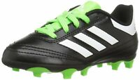 adidas Kids' Soccer Goletto Firm Ground Cleats, Black/White/Green, 4.5 M US