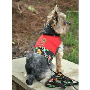 Gingerbread Fabric Dog Harness with Leash - XS-L