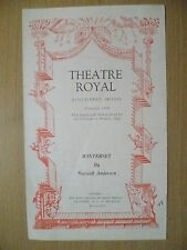 Theatre Royal Programme 1948- WINTERSET by Maxwell Anderson